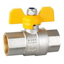 """Кран шаровой HLV-Gas ( ручка-бабочка) внут-внут резьба 1"""" ( HLV-104227.N.03 )"""
