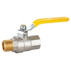 """Кран шаровой HLV-Gas ( ручка-рычаг) внут-наруж резьба 1"""" ( HLV-104272.N.03 )"""