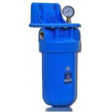 """Aquafilter BB10 натрубный корпус фильтра """"Big Blue"""", латунная резьба 1'', с манометром, клапаном, кронштейном, ключем"""