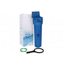 """Aquafilter BB20"""" натрубный корпус фильтра """"Big Blue"""", латунная резьба 1'', с манометром, клапаном, кронштейном, ключем"""