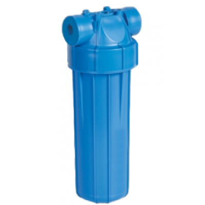 """AquaFilter 10"""" резьба 1/2"""", 6 bar, 2 упл. кольца натрубный корпус фильтра с синим стаканом и синей крышкой, возд. клапан, пластиковая"""