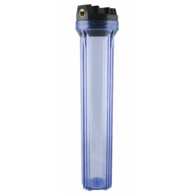 """AquaFilter """"Slim"""" 20"""" подсоедин. 1"""", прозрачный натрубный корпус фильтра типа"""