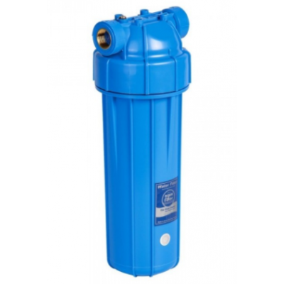 """AquaFilter 10"""" латунная резьба 1"""", 6 bar, 2 упл. кольца натрубный корпус фильтра с синим стаканом и синей крышкой, возд. клапан"""