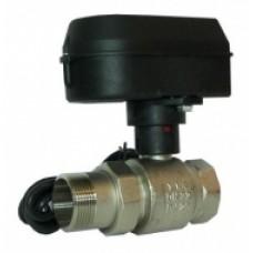 Шаровий кран с электричним приводом, SPDT, 220В, 30 с., Ду20, Kvs=41 м3/ч