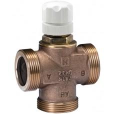 3-х ходовий смесительный/распределительный клапан, подходит для электропривода или термостатического регулятора, PN16, 2…120 °C, ход штока 2 мм, DN15, 1/2