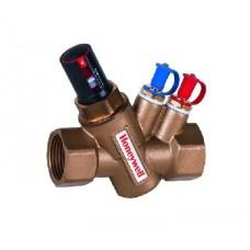 автоматический балансировочный клапан - регулятор расхода, Kombi-VX. материал корпуса и вставки клапана -латунь, нержавеющая сталь и пластик; мембрани – EPDM.