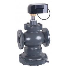 автоматический регулятор расхода - регулирующий клапан , Kombi-QM, фланцевый. материал корпуса и внутренних частей клапана – ковкий чугун, латунь, нержавеющая сталь, пластик, полимер и EPDM.
