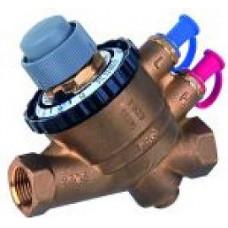 автоматический регулятор расхода, Kombi-QM. материал корпуса и внутренних частей клапана – латунь, нержавеющая сталь, пластик, полимер и EPDM.
