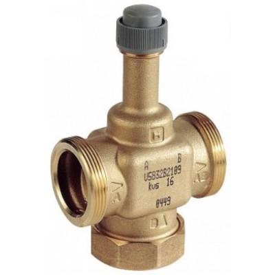 2-х ходовий клапан, PN16, 2...120 °C, линейный, ход штока 6,5 мм, внешняя резьба, DN25, G1 1/2,Kvs 10,0