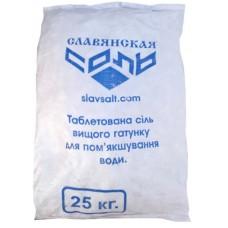 Славянская cоль таблетированная 10г (25кг меш)